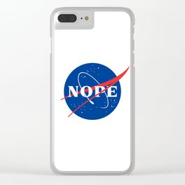 Nope Clear iPhone Case