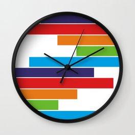 Colored lines #society6 #decor #buyart #artprint Wall Clock