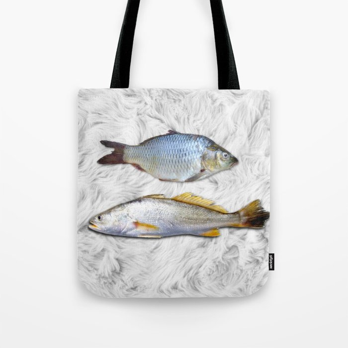 Fish on Fur Tote Bag
