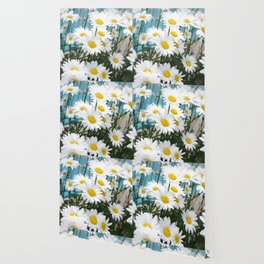 Daisies flowers in painting style 10 Wallpaper
