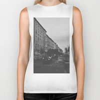 berlin Biker Tanks featuring Berlin by Jane Lacey Smith