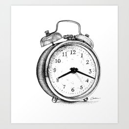 Clock watch Art Print
