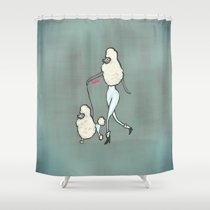 Proudly Poodle Shower Curtain