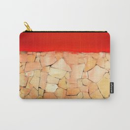 Urban Tiled Wall and Red Paint Carry-All Pouch
