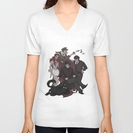 Woland and his retinue Unisex V-Neck