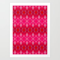 ikat Art Prints featuring Ikat by Amy Sia