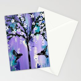 Purple Tree of Life Stationery Cards