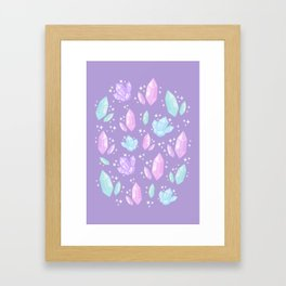 Magical Crystals // Purple Framed Art Print