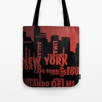 cities Tote Bags featuring Cities by Colin Webber