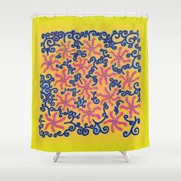 bungong jeumpa series: brightyellow Shower Curtain