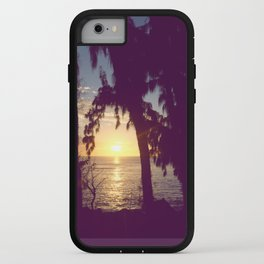 the flames of sunset iPhone Case