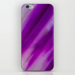 Purple Neon Geode Raw Crystal Stone Agate Amethyst Fine Art Print iPhone Skin