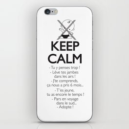 Pas enceinte ? Keep calm ! iPhone Skin