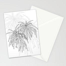 Henkelii Tree Leaves Drawing (black on white) Stationery Cards