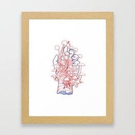 fungal parasites blood Framed Art Print