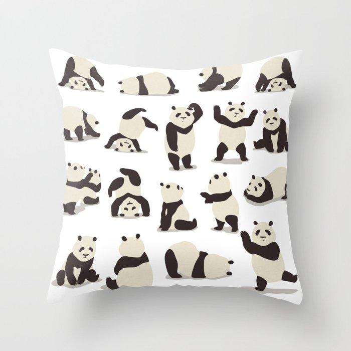 Pandas Party Throw Pillow