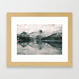 Ice Lake. Framed Art Print