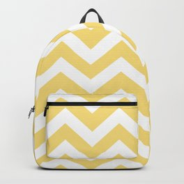 Mellow yellow - yellow color - Zigzag Chevron Pattern Backpack
