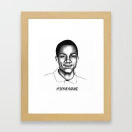 Jordan Edwards Framed Art Print