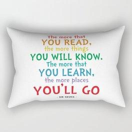 Places You'll Go Quote - Dr Seuss Rectangular Pillow