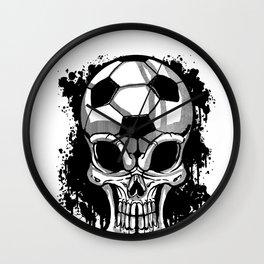 Soccer Ball Skull Sport Goal Game Football Gift Wall Clock