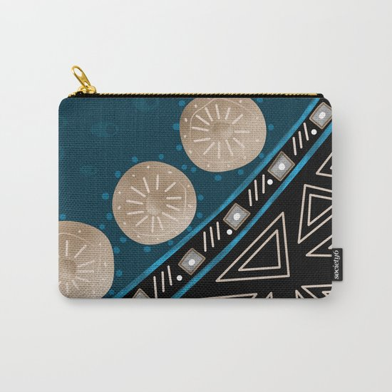 Abstract pattern Black and blue . Carry-All Pouch