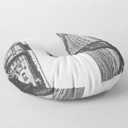 Wall street bw Floor Pillow