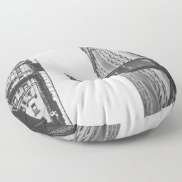 Wall street bw Floor Pillow