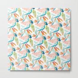birds of paradise print Metal Print