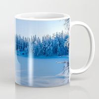 swedish Mugs featuring Swedish Winter by Mark W