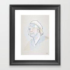 One line Dr. Emmett Brown  Framed Art Print