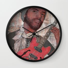 Gary Clark Jr. - Numb Glitter Wall Clock
