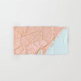 Barcelona map, Spain Hand & Bath Towel