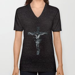 Crucifix Unisex V-Neck