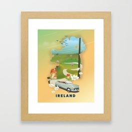 Ireland vacation poster. Framed Art Print