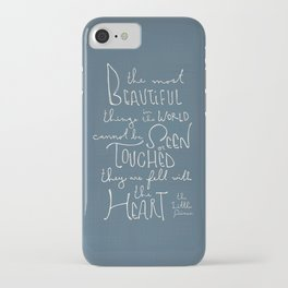 "The Little Prince quote ""the most beautiful things"" iPhone Case"