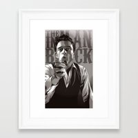 johnny cash Framed Art Prints featuring Johnny Cash by Denis O'Sullivan
