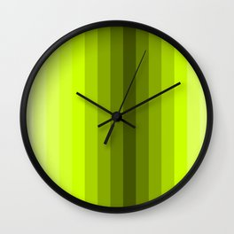 lemon stripes modern patterns Wall Clock
