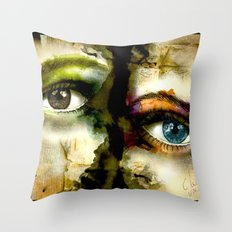 2Eyes2Faces by carographic Throw Pillow