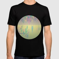 one more world MEDIUM Black Mens Fitted Tee