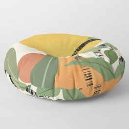 Tropical Garden Leaves 02 Floor Pillow
