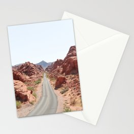 Roads Of Nevada Desert Picture | Valley Of Fire State Park Art Print | USA Travel Photography Stationery Cards