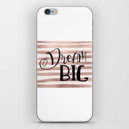Dream big - rose gold iPhone Skin