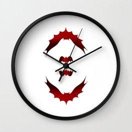 Halloween bat silhouette bats bat Wall Clock