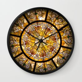 A Stained Glass Dome Wall Clock