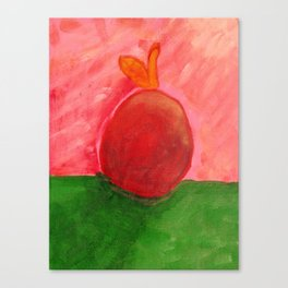 The Apple - Painting by young artist with Down syndrome Canvas Print