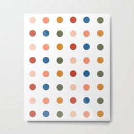 Modern Dots Metal Print