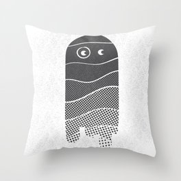 Shades of Boo... -black- Throw Pillow