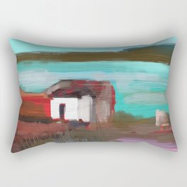 Old Shack by the Lake Rectangular Pillow