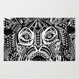 Tribal Inspired Lion ink illustration Rug